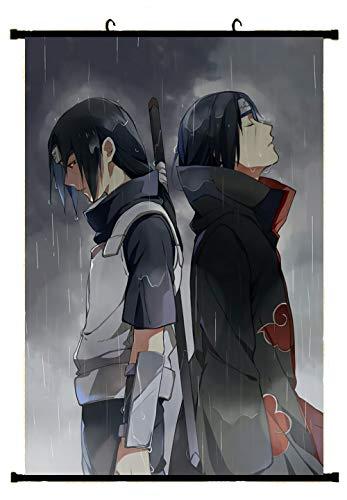 Tomorrow sunny Naruto Itachi Sasuke Logo Poster Fabric Scroll Painting Wall Picture (AA)