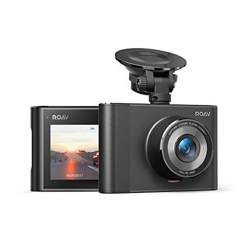 ROAV by Anker DashCam A1, Dash Cam for Car, Driving Recorder, 1080p FHD LCD Screen, Nighthawk Vision, Wide Angle Lens, Wi-Fi, G-Sensor, WDR, Loop Recording, Night Mode, Motion Detection, Dedicated App