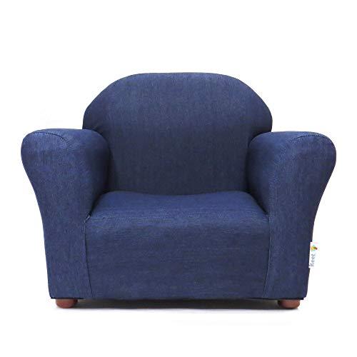 KEET Roundy Kid's Chair Denim, Blue