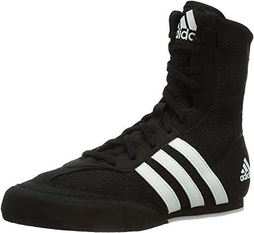 adidas Box Hog Mens Boxing Trainer Shoe Boot Black/White - UK 10.5