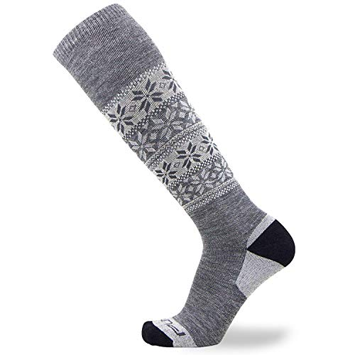 Pure Athlete Alpaca Ski Socks – Men Warm Wool Sock, Women Skiing, Snowboarding