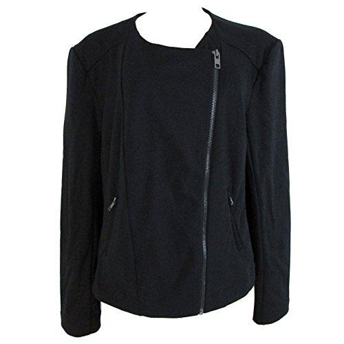 Catherine Malandrino Runway Style Women's Asymmetrical Coat Jacket Black (XXL)