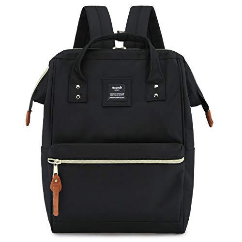 Himawari Travel School Backpack with USB Charging Port 15.6 Inch Doctor Work Bag for Women&Men College Students(H900d-L SB Black)