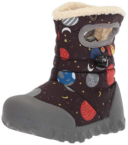 BOGS Baby B-Moc Waterproof Insulated Kids Winter Boot, Space Print/Black/Multi, 5 M US Toddler