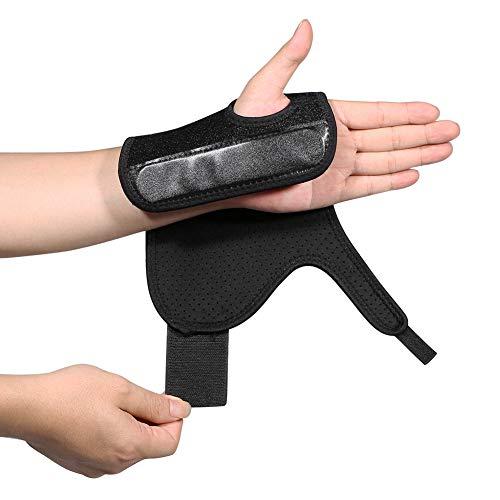 Wrist Brace - Breathable Neoprene Night Sleep Splint, Adjustable Wrist Support for Keyboard Arthritis, Tendonitis, Sprains, RSI One Size Black Left Hand