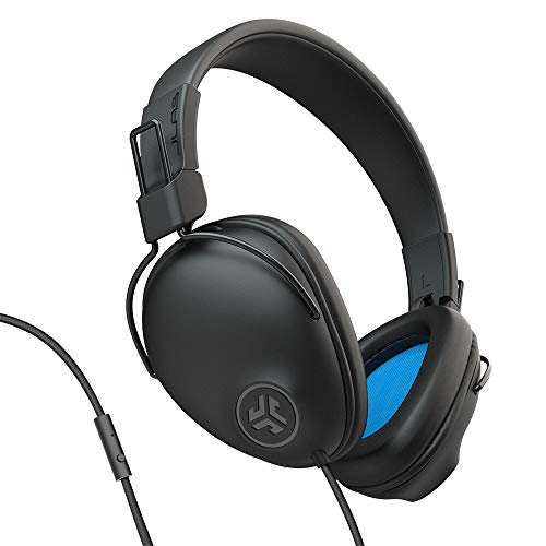 JLab Studio Pro Over-Ear Headphones | Wired Headphones | Tangle Free Cord | Ultra-Plush Faux Leather with Cloud Foam Cushions | 40mm Neodymium Drivers with C3 Sound | Black
