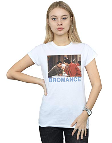 ABSOLUTECULT Friends Women's Joey and Ross Bromance T-Shirt White X-Large