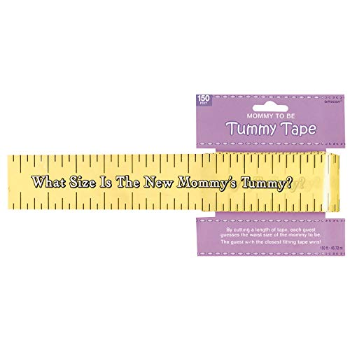 Baby Shower Tummy Measure Game Tape - 150ft
