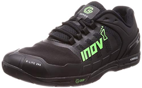 Inov-8 F-Lite G 290 - Cross Training Shoes Men - Comfortable and Supportive - Black/Green - 9.5