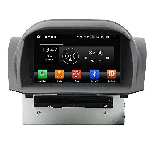 KUNFINE Android 10 Octa Core 4G Ram 32GB ROM Autoradio GPS Navigation DVD Multimedia Player Steering Wheel Control Headunit Stereo for Ford Fiesta 2013-2016