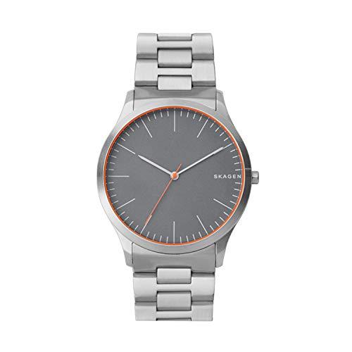 Skagen Men's Jorn Analog-Quartz Watch with Stainless-Steel Strap, Silver, 9 (Model: SKW6423)