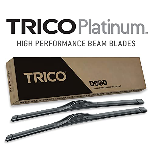 TRICO Platinum 24 and 20 inch pack of 2 High Performance Premium Beam Windshield Wiper Blades For Car (25-2420)