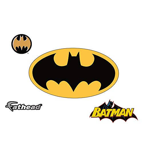 FATHEAD Batman: Logo-X-Large Officially Licensed DC Removable Wall Decal