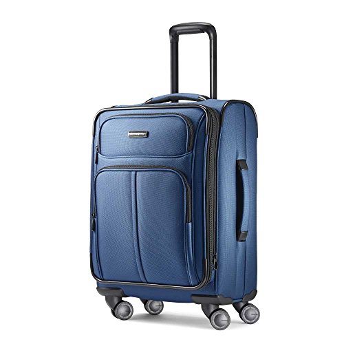 Samsonite Leverage LTE Softside Expandable Luggage with Spinner Wheels, Poseidon Blue, Carry-On 20-Inch