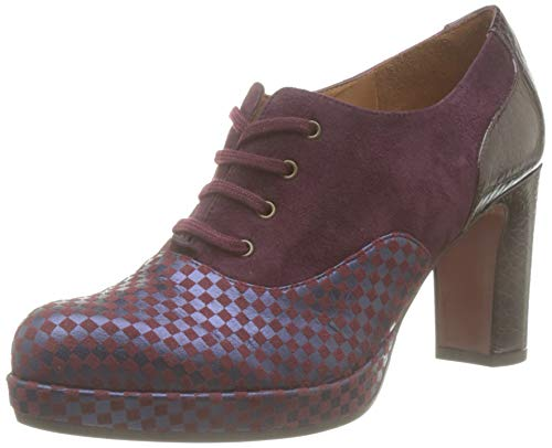 Chie Mihara Women's Oxford Lace-Up, Red (Chess Grape Ante Grape Nilo Grape Grape), 5 UK