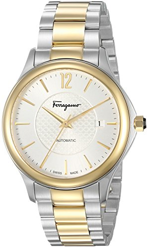 Salvatore Ferragamo Men's 'Time Automatic' Swiss Made Automatic Stainless Steel Watch (Model: FFT040016)