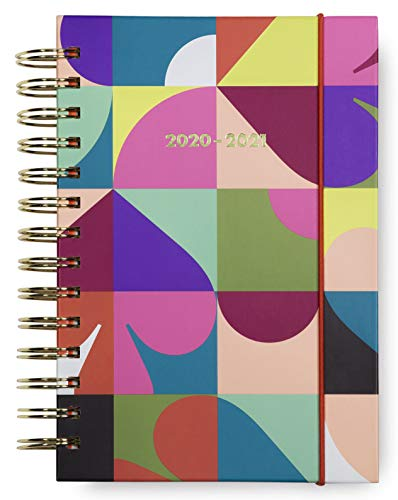 Kate Spade New York Medium 2020-2021 Planner Weekly & Monthly, 17 Month Hardcover Personal Planner Dated Aug 2020 - Dec 2021 with Stickers, Pocket, Tab Dividers, Notes/Holiday Pages, Spade Dot Geo