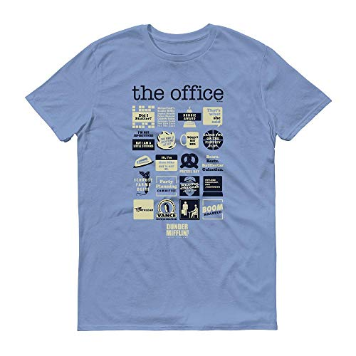 NBC The Office Quote Mash-Up Men's Short Sleeve T-Shirt - Sky Blue - X-Large