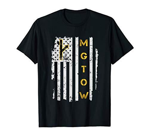 Mens MGTOW Vintage Distressed USA Flag Gift T-Shirt