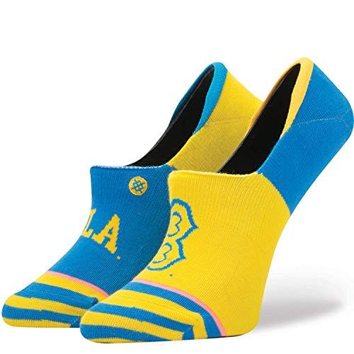 Stance Women's Super UCLA Invisible Height Socks Medium (shoe size 8-10.5) (Light Blue/Yellow)