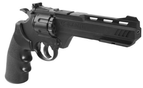 Crosman CCP8B2 Vigilante CO2 .177-Caliber Pellet And BB Revolver, Black, FFP