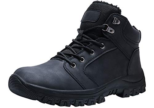 WYHAN Men's Snow Boots Winter Ankle Bootie Outdoor Trekking Hiking Insulated Cold Weather Boot