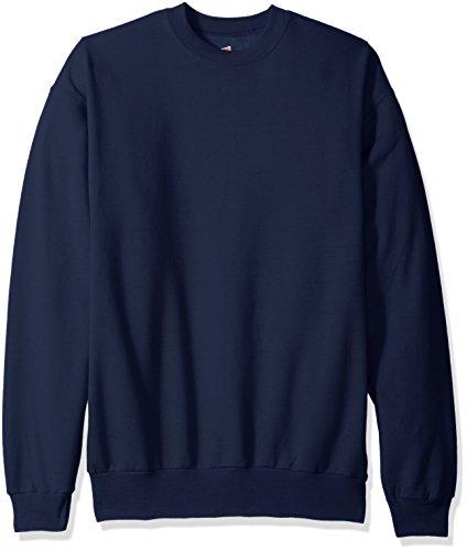 Hanes Men's Ecosmart Fleece Sweatshirt,Navy,2 XL