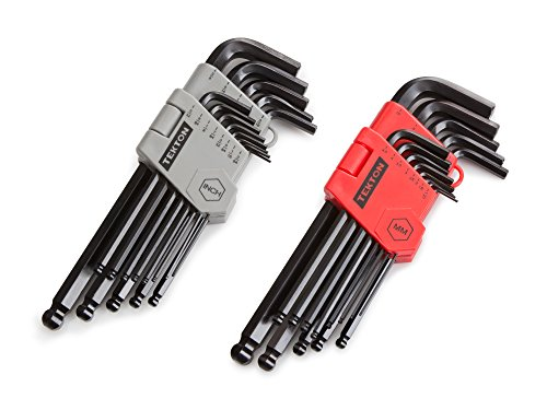 TEKTON Long Arm Ball End Hex Key Wrench Set, 26-Piece (3/64-3/8 in, 1.27-10 mm) | 25282