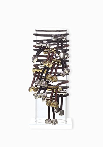Pulleez Acrylic Jewelry Holder Standing Display – Home Vanity or Retail Display for Bracelets, Watches, Hair Ties