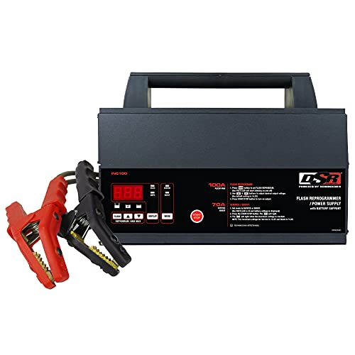 Schumacher DSR ProSeries Battery Charger Flash Reprogrammer, and Power Supply with Battery Support - 100A, 12V