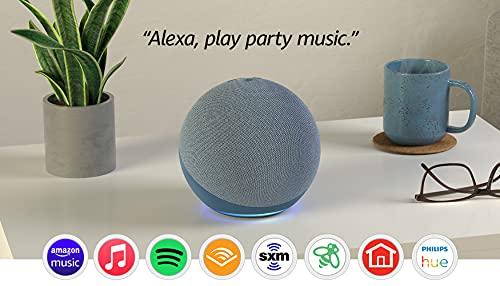 Echo (4th Gen) | With premium sound, smart home hub, and Alexa | Twilight Blue