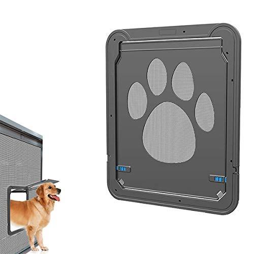 Dog Magnetic Screen Door,Inside Door Flap 12x14x0.4 inch,Lockable Pet Screen Door,Magnetic Self-Closing Screen Door with Locking Function,Sturdy Screen Door for Dogs Cats