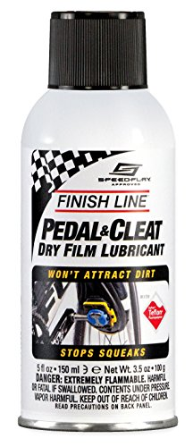 Finish Line Pedal and Cleat Dry Film Lubricant Aerosol, 5-Ounce