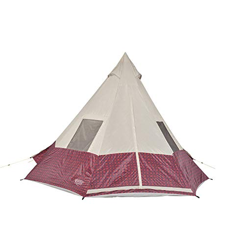 Wenzel Shenanigan 5 Person Teepee Tent - Red