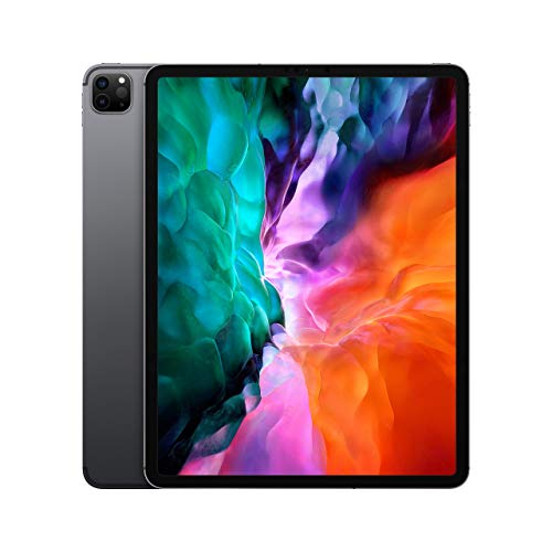 Apple iPad Pro (12.9-inch, Wi-Fi + Cellular, 128GB) - Space Gray (4th Generation) (2020) (Renewed)