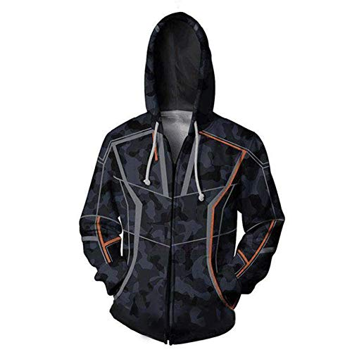 Rulercosplay Fashion Hoodie Avenger Hoodie Tony Sport Jacket Cosplay Costume (Stark, XXL)