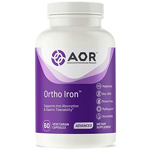 AOR, Ortho Iron, Natural Supplement to Support Healthy Iron Levels and Reduce Risk of Anemia, Vegetarian, 60 Capsules (60 Servings)