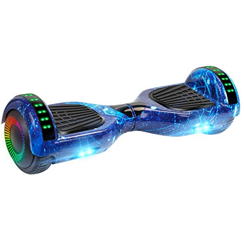 UNI-SUN 6.5' Hoverboard for Kids, Two Wheel Electric Scooter, Self Balancing Hoverboard with Bluetooth and LED Lights for Adults, UL 2272 Certified Hover Board(Ultimate Star Blue