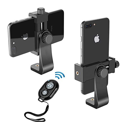Phone Tripod Mount Adapter Cell Phone Holder Stand Compatible with iPhone 11 Pro Xs XR Max X 8 7 6 6s Plus Samsung Nexus with Wireless Remote Control 360°Rotation for Selfie Stick Tripod Smartphone