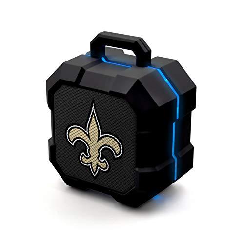 NFL New Orleans Saints Shockbox LED Wireless Bluetooth Speaker, Team Color