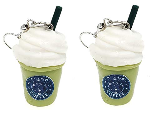SAE99 Blended Ice Green Tea Big Dangle Earrings
