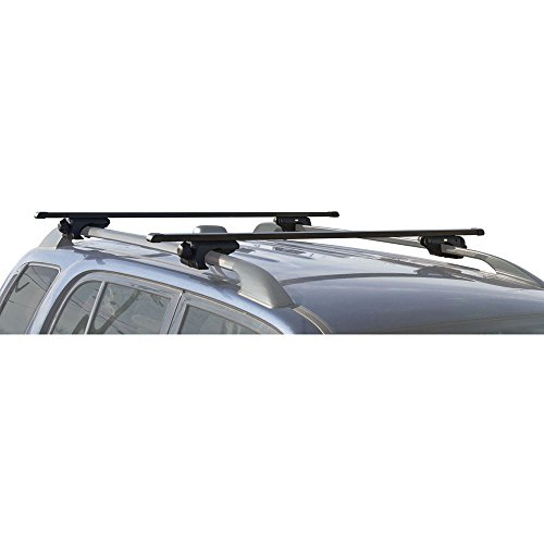 Apex RB-1006-49 Universal Side Rail Mounted Roof Bar, Black