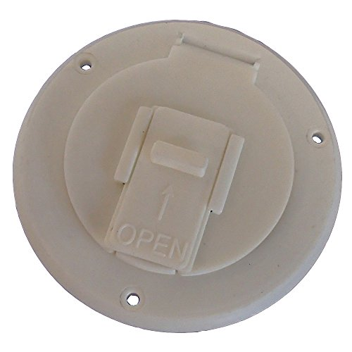 5412 Electric Power Cord Hatch Cover for RV Camper White 30 50 Amp