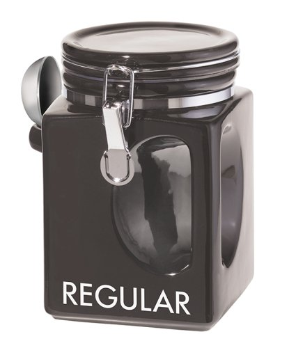 Oggi EZ Grip Regular Coffee Canister, Black