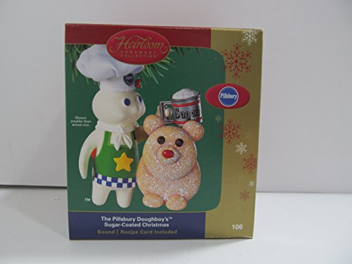 The Pillsbury Doughboy's Sugar-Coated Christmas Ornament with sound Carlton Heirloom 2004