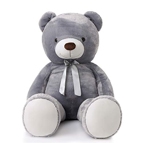 MaoGoLan Giant Teddy Bear Grey Large Stuffed Animals Plush for Girlfriend Children Valentine's Day 47 Inch