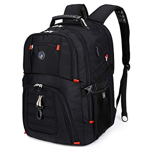 Extra Large 50L Travel Laptop Backpack with USB Charging Port Fit 17 Inch Laptops for Men Women