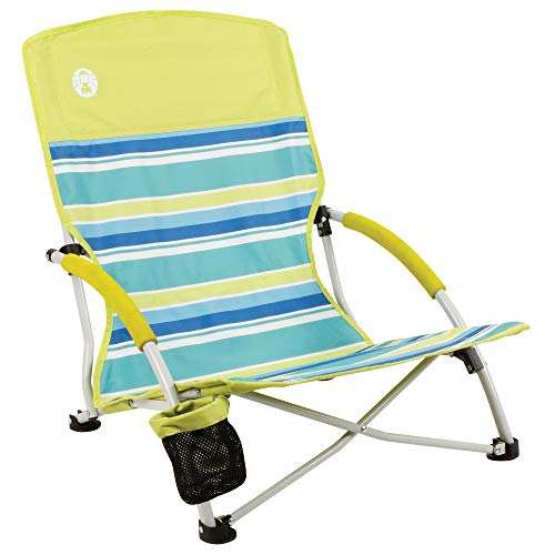 Coleman Camping Chair | Lightweight Utopia Breeze Beach Chair | Outdoor Chair with Low Profile