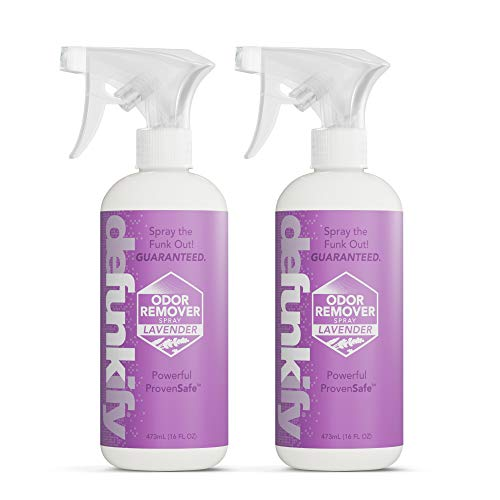 Defunkify Odor Remover Spray, Lavender - for Shoes and Fabrics - 16 floz (2-Pack)
