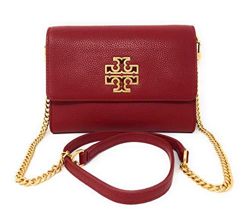 Tory Burch Britten Chain Wallet Shoulder Bag (Redstone)